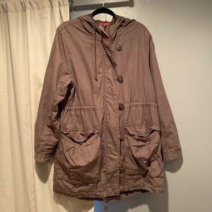 H&M Army Green Long Jacket Sz 12
